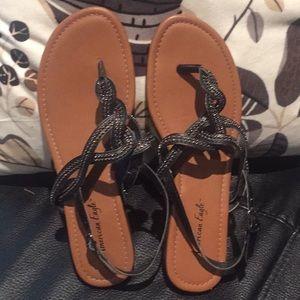 America Eagles 🦅 black sling back sandals